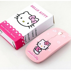 Wireless Mouse Ultra Thin Hello Kitty Computer Mouse 2.4GHz 1200DPI Optical Gaming Mouse Mice pink wireless