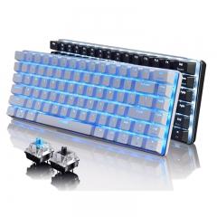 AK33 Backlignt Edition Mechanical Keyboard Blue Switch Gaming Keyboards for Tablet Desktop black normal