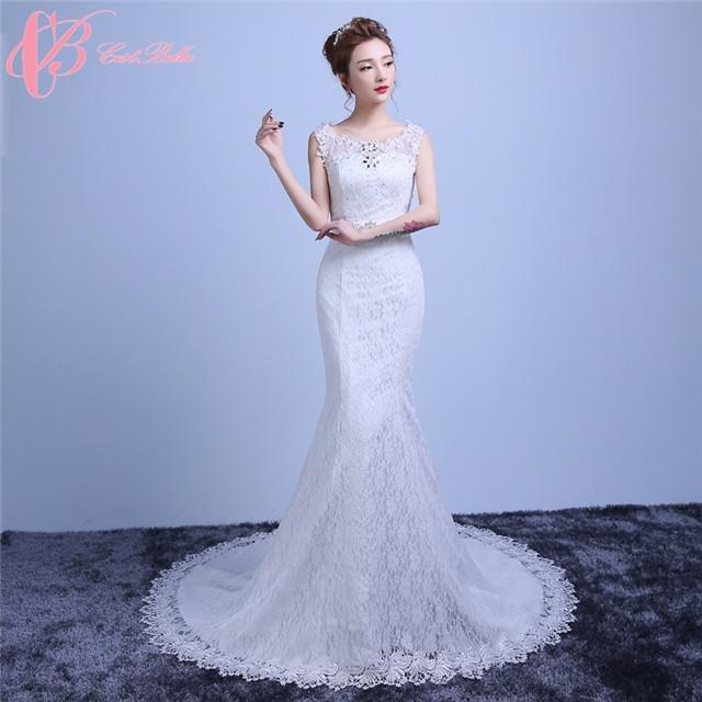 Sexy Mermaid Lace Alibaba Long Tail Wedding Dress 2017 Cestbella Image