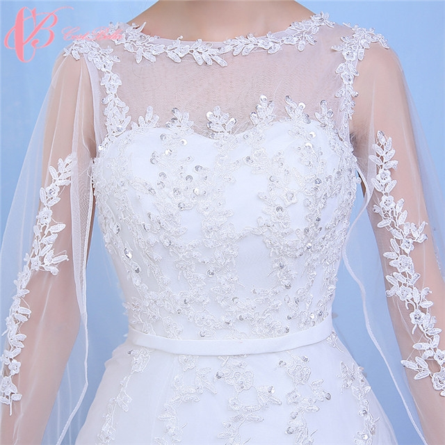 Off-shoulder Gown 2017 New Design Chapel Train Puffy Princess ...