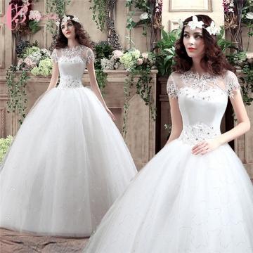Sash Cap Sleeve Cheap China Custom Made Wedding Dress Cestbella pure white 4