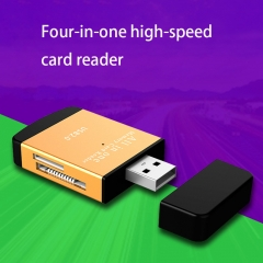 Four in One High Speed Card Reader   Multifunction TF Micro SD Card Mobile Phone Camera Memory Card black one size no