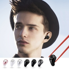 MINI Bluetooth headset tiny 4.1 wireless Invisible Ear plug type Car Bluetooth headset silver