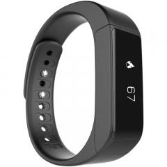 intelligent wristband Big screen touch news Push Bluetooth waterproof  movement wristband black