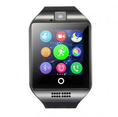 Curved Screen Intelligent Watch Bluetooth Phone Mobile phone Card Wearable Equipment StEep Anti-lost black