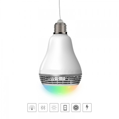Light Bulb Wireless Bluetooth Intelligent Small Sound Colorful Bulb Music light bulb led white one size