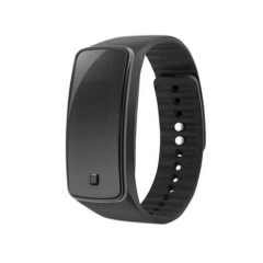 LED  Wristband Watch Waterproof Movement Touch Table men and Women Student Couple digital Watch black