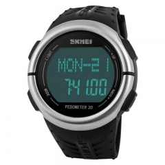 Fashion Trend Waterproof digital Watch Personality Step Heart rate Movement  Digital Watch black