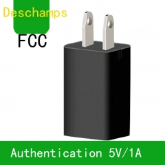 5V1A mobile phone charger Single USB charging head Phones Lamps Tablets are available Black Small