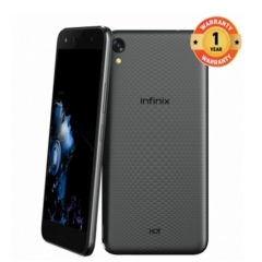 Infinix Hot 5 Lite (X559) 5.5-Inch HD (1GB, 16GB ROM) Android 7, 8MP + 5MP Dual SIM 3G Smartphone black