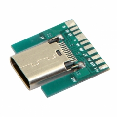 CHENYANG DIY 24pin USB 3.1 Type C Female Socket Connector SMT type with PC Board UC-206