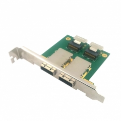 CHENYANG Dual Ports Mini SAS SFF-8088 To SAS 36Pin SFF-8087 PCBA Female Adapter With PCI Bracket